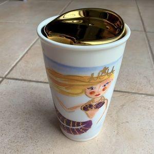 Starbuck Mermaid Ceramic Travel Mug - NEW